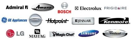 The Appliance Guru services all brands including Admiral, Amana, Bosch, Dacor, Electrolux, Frigidaire, GE, Kitchenaid, Hotpoint, Jenn-Air, Kenmore, LG, Maytag, Magic Chef, Samsung, Whirlpool